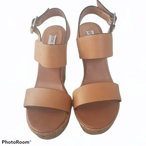 Steve madden Women's leather Wedge sandals. Size 7
